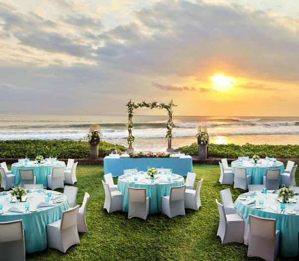 Beachfront's wedding venue professionally photographed in Bali