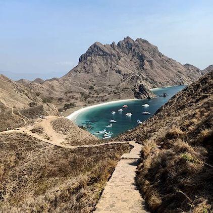 trekking in padar island